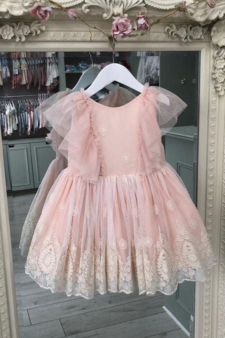 Marta Y Paula Lara pink puffball tulle dress