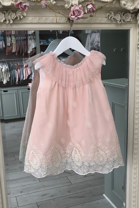 Marta Y Paula pink a-line tulle dress