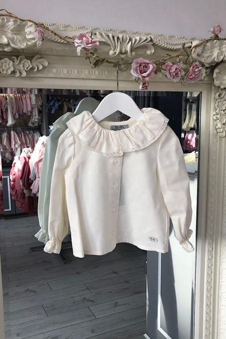 Jose varon cream blouse