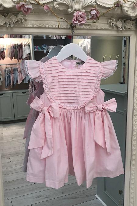 Piccola Speranza pink bow dress