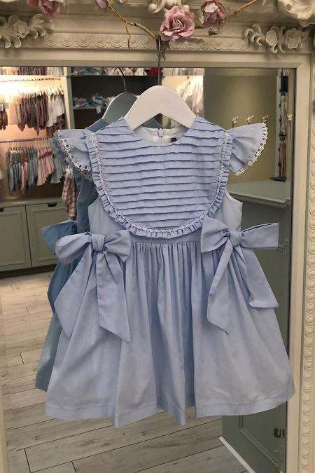 Piccola Speranza blue bow dress
