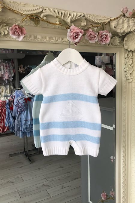 Knitted Boat Romper