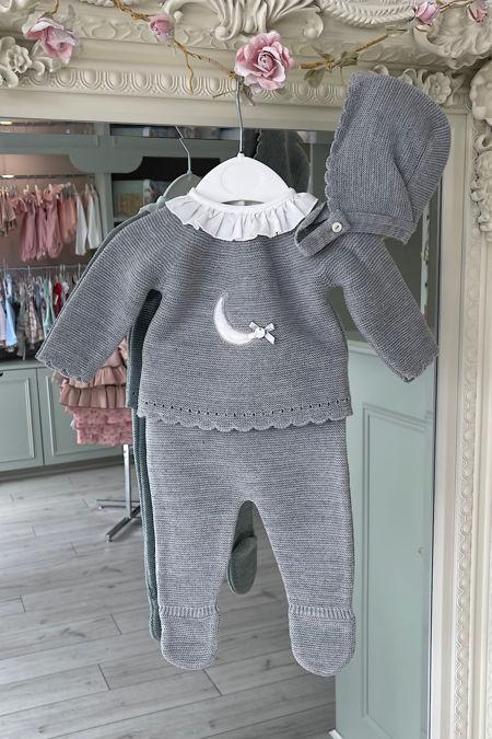 Valentina grey luna knitted set