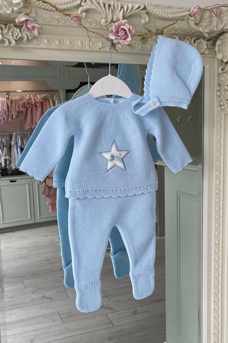 Valentina blue star knitted set