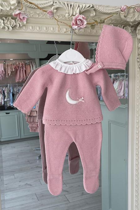 Valentina dusky pink luna knitted set