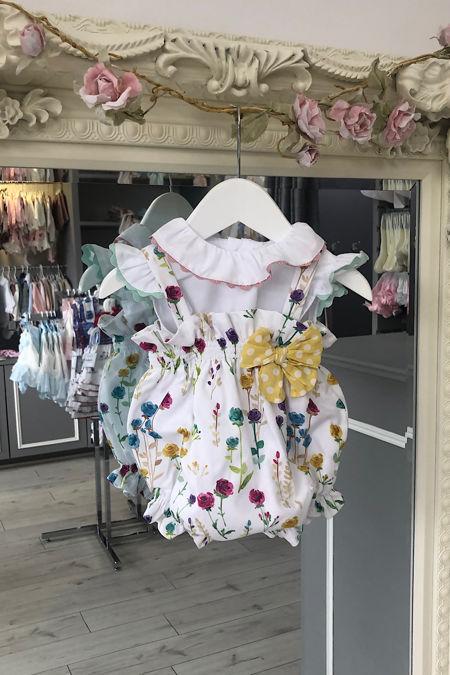 Yoedu Rosa floral romper and blouse set