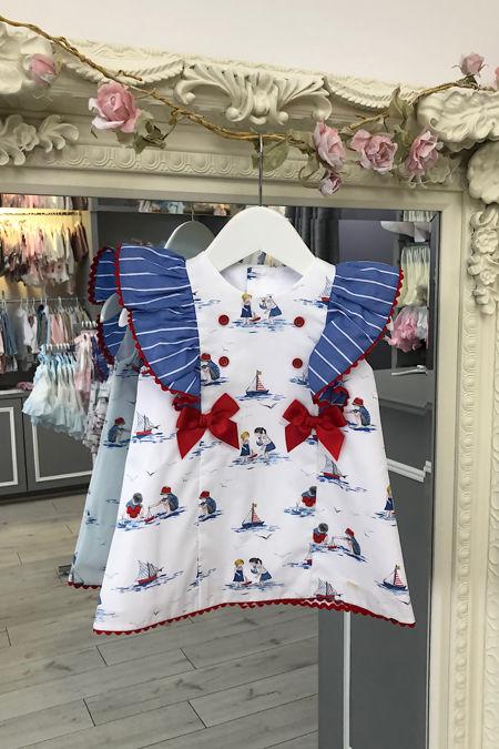 Yoedu Jazmin nautical bow dress