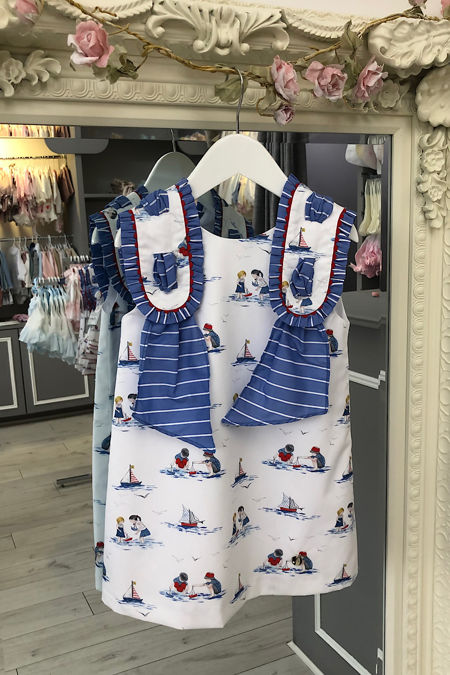 Yoedu Jazmin nautical girls dress