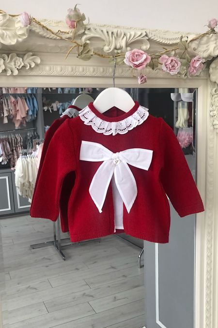 Foque red bow jumper
