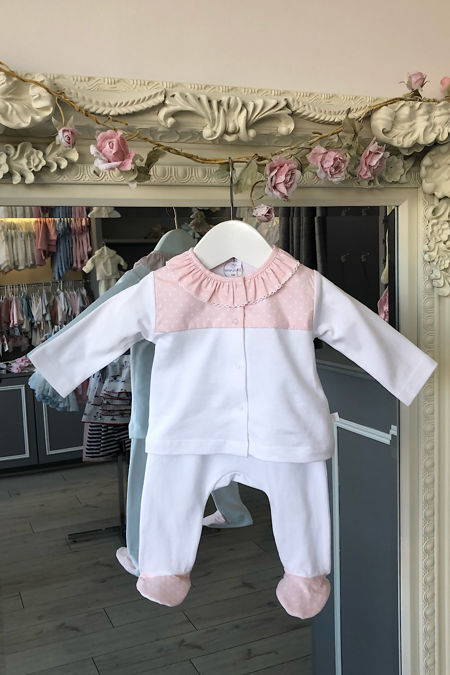 Laranjinha peach polka dot two piece