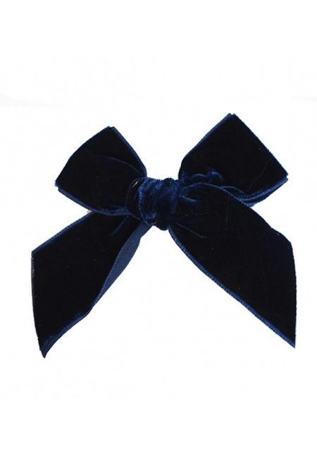 Condor navy blue velvet hair bow