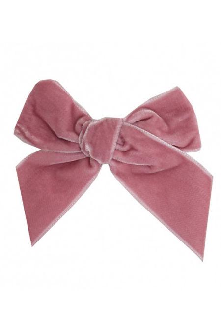 Condor dusky pink velvet hair bow