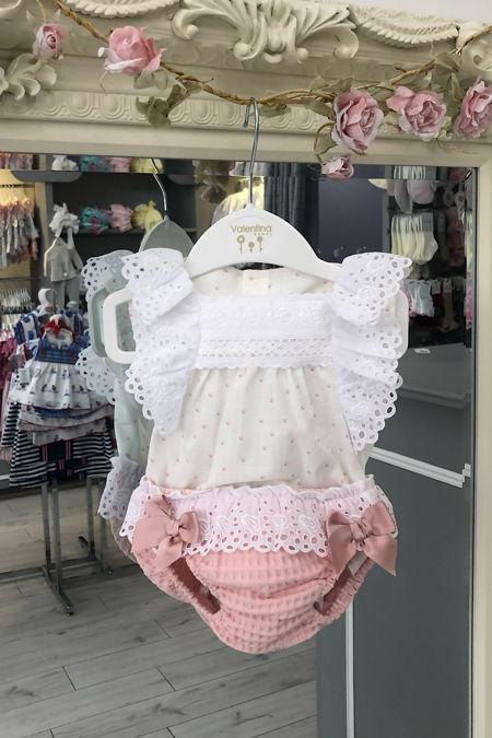 Sofia white and pink jam pants set