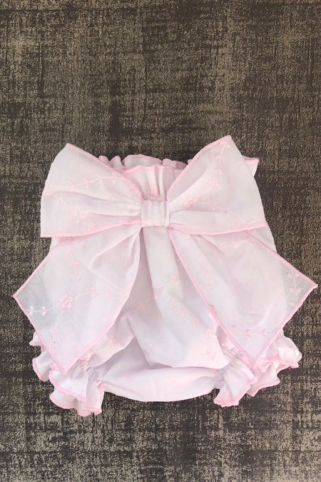 Mallorca white and pink bow jam pants
