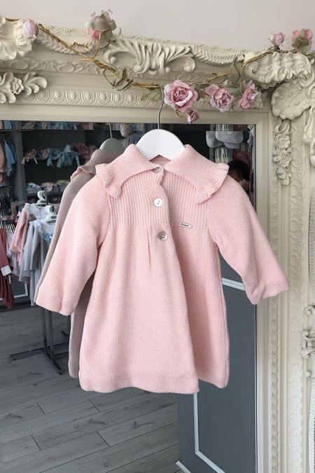 Foque pink knitted coat