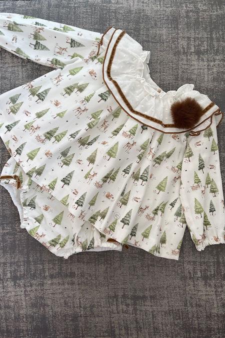 Marta Y Paula woodlands print dress and knickers set