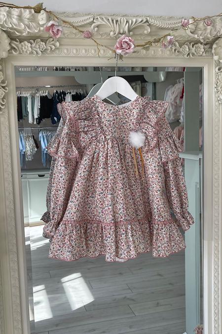 Marta Y Paula pink floral dress
