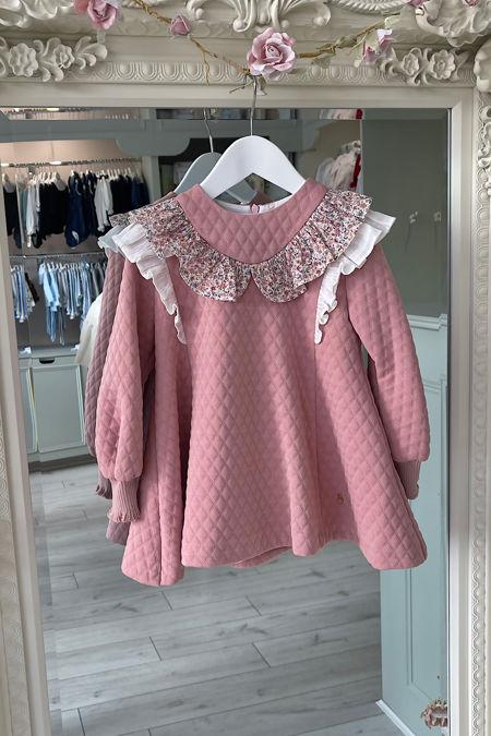 Marta Y Paula stone pink floral dress