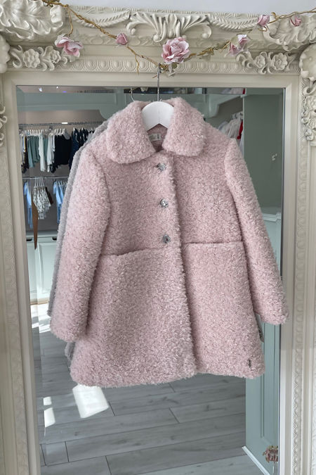 Marta Y Paula pink collared coat
