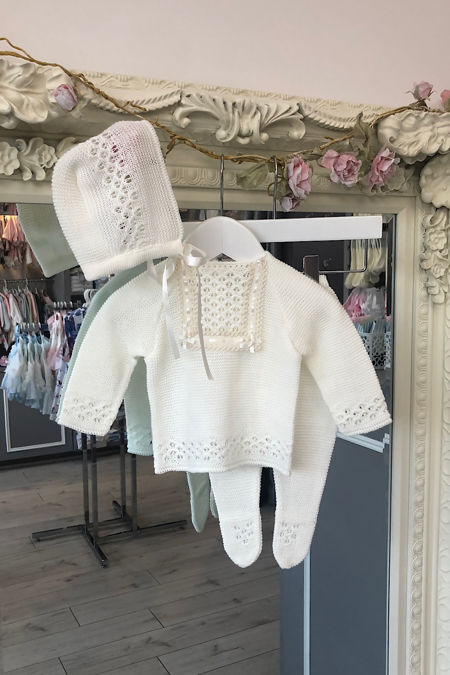Casey knitted set cream