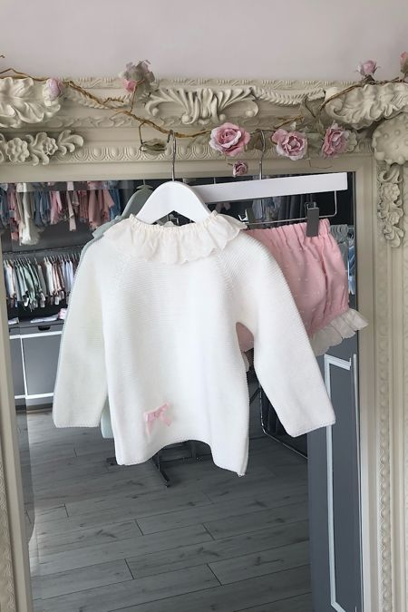 Rochy cream and pink jumper set