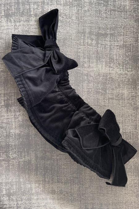 Phi black velvet pleat trim jam pants