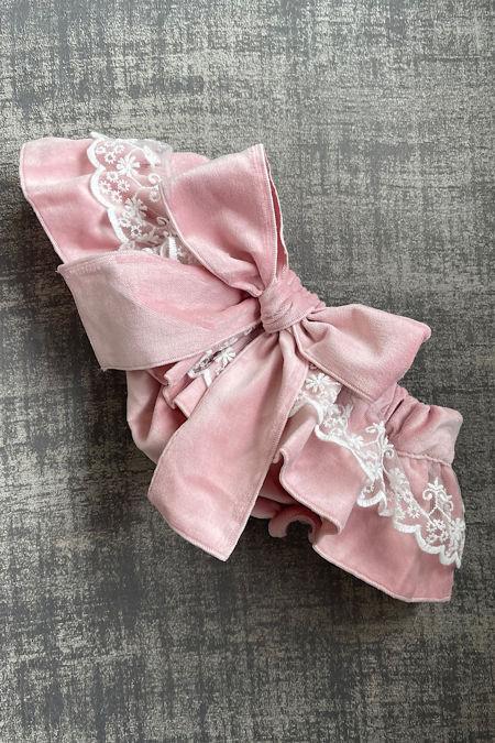 Phi dusky pink lace trim jam pants