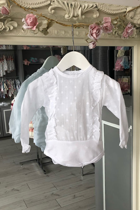 Seville white long sleeve blouse