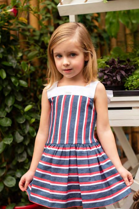 Foque nautical striped dress