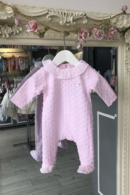 Laranjinha dotty pink babygrow