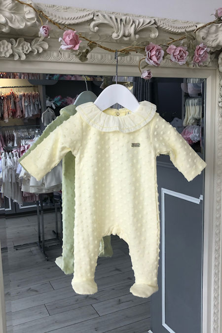 Laranjinha dotty lemon babygrow