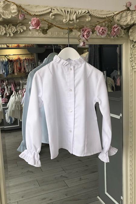 Grace white frill cuff blouse