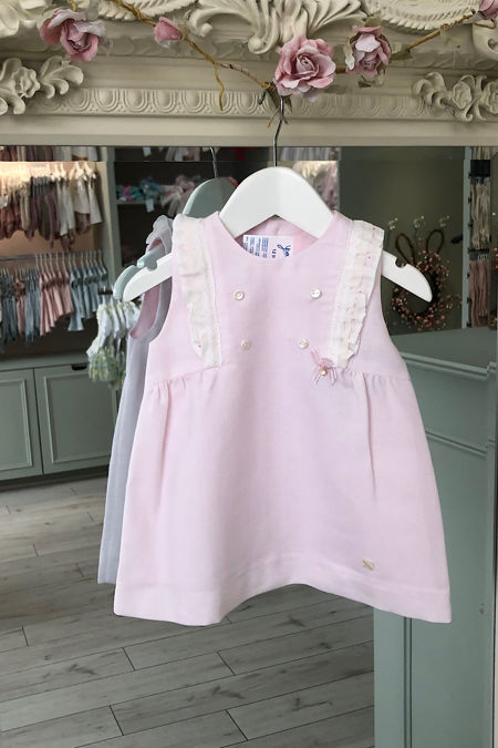 Yoedu Emilia pink and cream dress