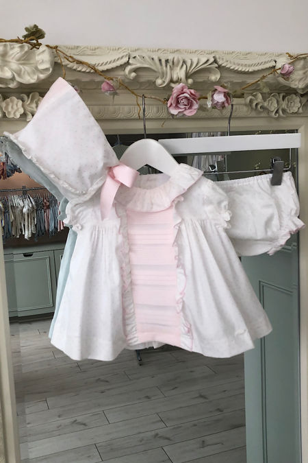 Yoedu Selena pink and white three piece set