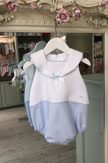 Yoedu blue and white sailor romper