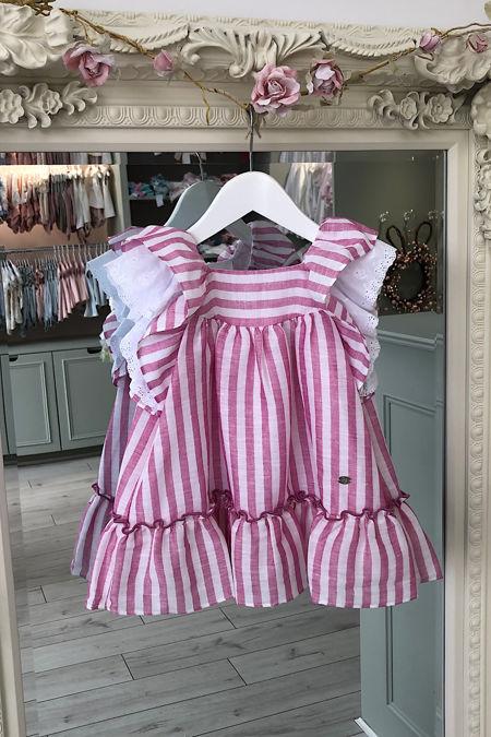 Yoedu Sadie pink striped dress