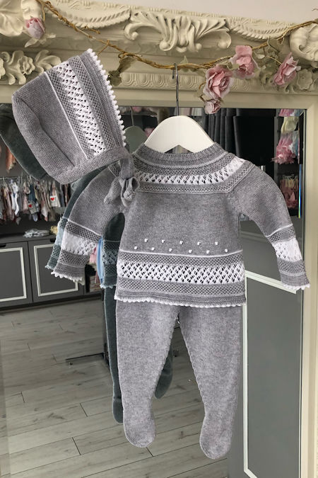 Florence grey knitted set
