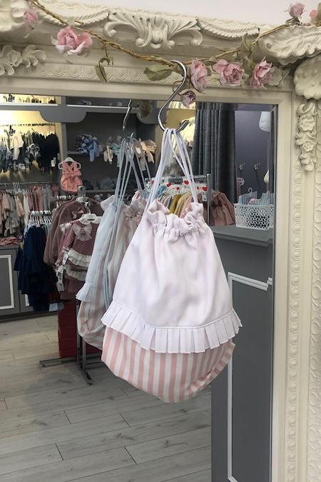 Pink stripe string bag