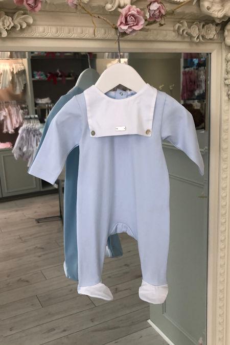 Laranjinha baby blue babygrow