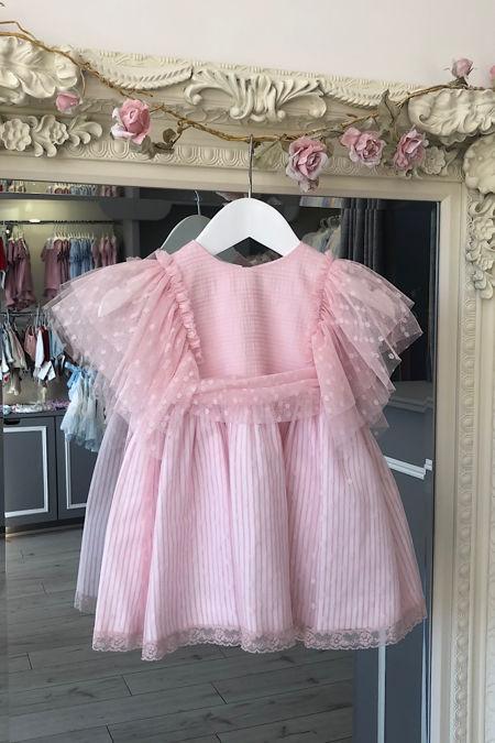 Marta Y Paula Felice baby pink tulle dress