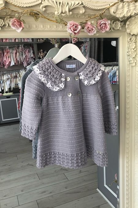 Foque grey knitted coat
