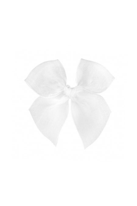 Condor white organza hair bow