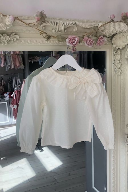 Chloe cream bow blouse