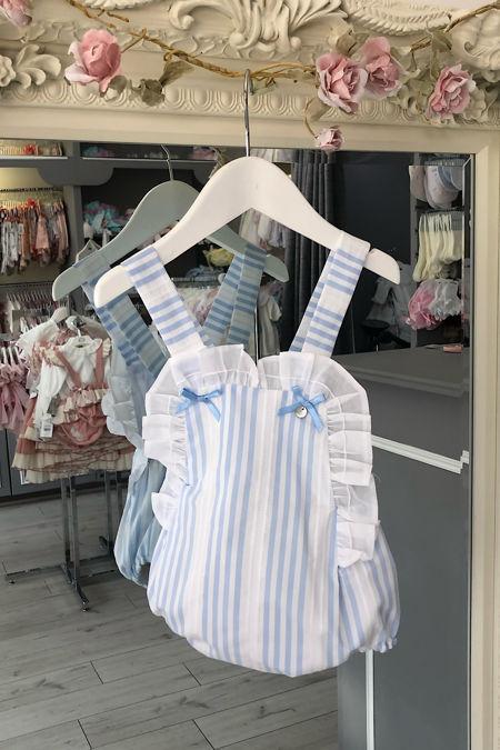 Yoedu blue and white stripe romper