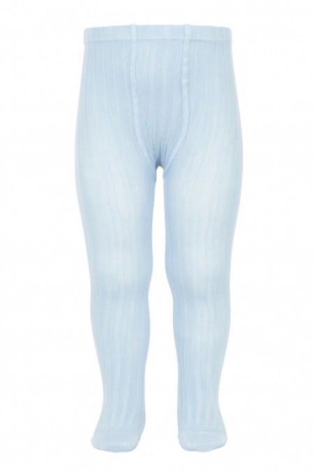 Condor baby blue ribbed tights