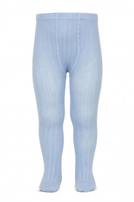 Condor dusky blue ribbed tights