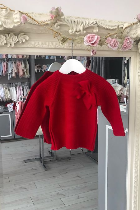 Red bow jumper