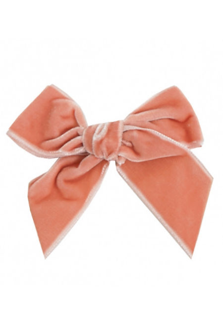 Condor peach velvet hair bow