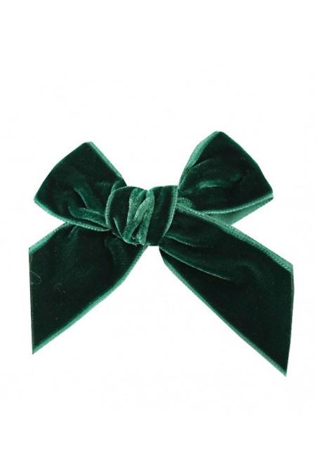 Condor green velvet hair bow