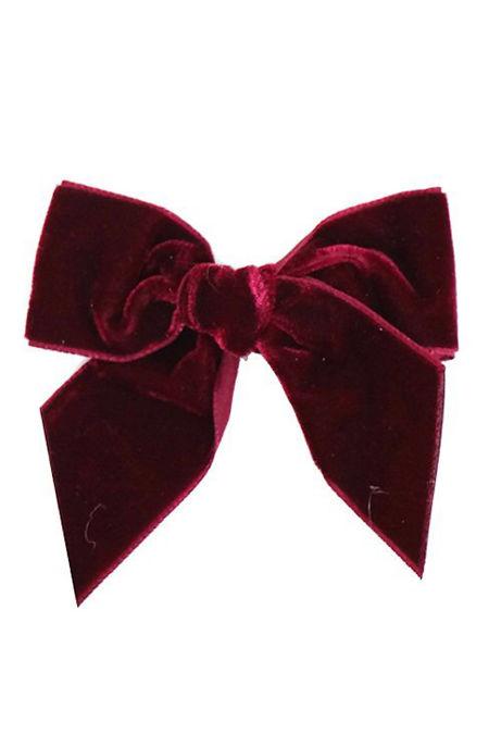 Condor burgundy velvet hair bow